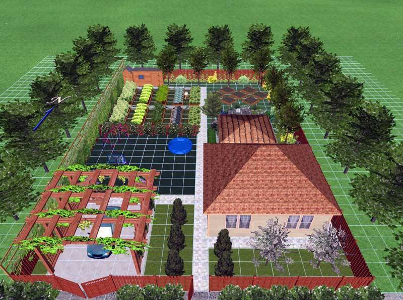 Планировка сад и огород