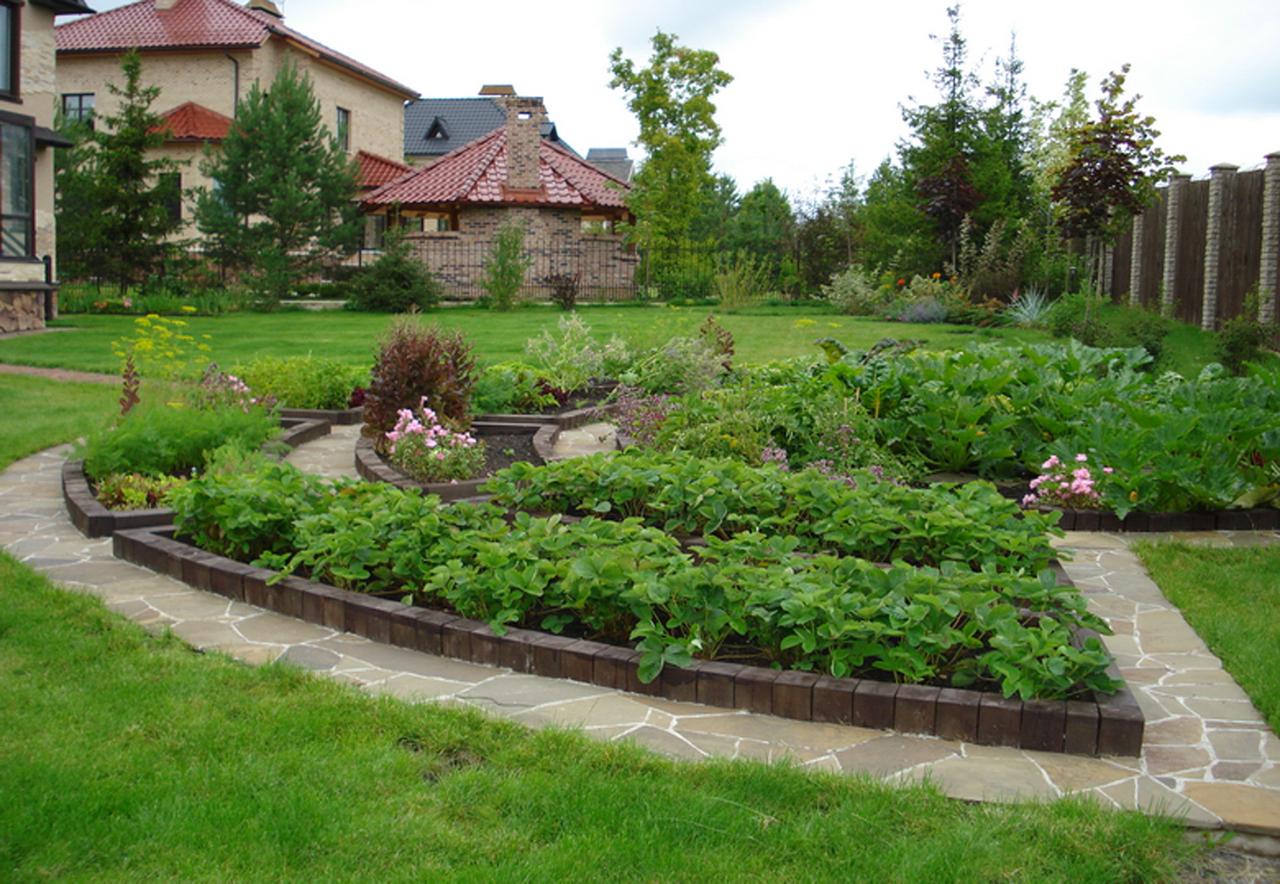Ландшафтный дизайн огорода и сада фото